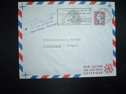 LETTRE TP M. DE DECARIS 0,25 Surch. 12f CFA OBL.MEC.15-10 1964 SAINT-DENIS REUNION 6 Au 13 DEC 64 XIe SALON Des A.I. - Brieven En Documenten