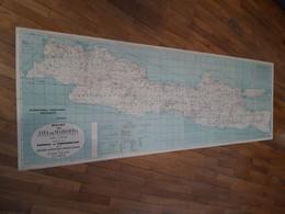 Carte De Java Debut 20 Eme Sur Les Plantations De Tabac..70 Cm Par 2 Metres. Entoilé... - Geographical Maps
