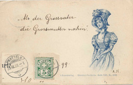 "AK  ""Modische Dame""  (Pratteln)         1899 - Covers & Documents"