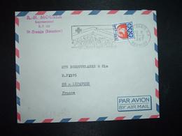 LETTRE TP BLASON PARIS 0,30 Surch. 15f CFA OBL.MEC.8-8 1967 974 ST DENIS RP REUNION UTILISEZ Les TIMBRES POSTE A SURTAXE - Brieven En Documenten