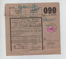 REF4288/ TP CF 203 S/Bulletin D'expédition Colis Du Soldat C. Oostende 6/9/1939 > Militaire > Velde Via BXL T.T. - 1923-1941