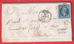 N°14 PC 1577 JOIGNY YONNE BOITE RURALE G LA CELLE ST CYR POUR TROYES AUBE - 1849-1876: Klassik