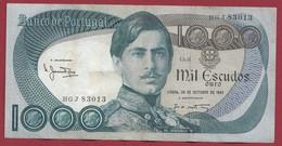 Portugal 1000 Escudos Du 26/10/1982 Dans L 'état (2) - Portugal