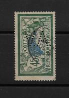 "FRANCE YT 143 Oblitéré PERFORE ""  V.A.  "" /Type Merson 45 Centimes 1907 - Perfins"