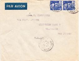 FRANCE  Lettre Paris, 37 Avenue Rapp, 8 Janv. 1946 - Par Avion Vers Les USA - Covers & Documents