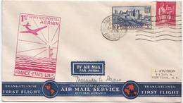 FRANCE -Marseille-Gare-Avion, 24 Mai 1939 - 1er Vol France-Etats Unis - Cachet Verso Horta, - Covers & Documents