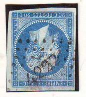 20 C Empire Obl PETITS CHIFFRES 4222 De MONACO ALPES MARITIMES - 1849-1876: Période Classique