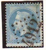 20 C Empire Obl GROS CHIFFRES 4912 , NEDDE Haute Vienne - 1849-1876: Période Classique