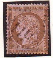 10 C Ceres Obl GROS CHIFFRES 5118 De YOKOHAMA JAPON , Bureau Francais à L' Etranger - 1849-1876: Classic Period