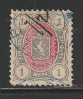 Finland - 1885 - Rare - Perf. 12 1/2 - ( Coat Of Arms - 1m ) - Used - As Scan - Used Stamps