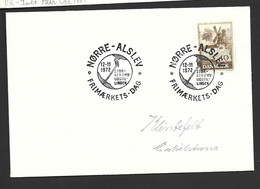 Denmark 1972 Cover , Special Norre - Alslev Stamp Day Cds X 2 - Non Classés