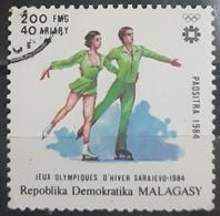 MADAGASCAR 1984 Winter Olympic Games - Sarajevo, Bosnia And Herzegovina. USADO - USED - Madagascar (1960-...)
