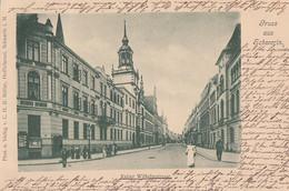 136 - Vintage 1900-1910 - Gruss Aus Schwerin - Kaiser Wilhelmstrasse - VG Condition - Stamp Postmark - 2 Scans - Schwerin