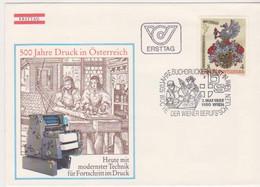 Ö 1982 - Mi:1701 (9) , FDC - 500 Jahre Druck In Österreich , SST 1150 Wien - FDC