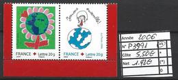 ANNEE 2006 SPLENDIDE TIMBRES DE LUXE FRANCE LOT DE 2 T NEUF (**) CROIX ROUGE CÔTE 5.50 € Y&T A SSAISIR!!!!!! - Unused Stamps