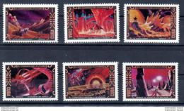 Kuba 1974 Mi. 1956 - 1961 ** Weltraumfahrt Der Zukunft Postfrisch (0027) - Ongebruikt