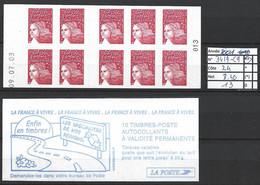 ANNEE 2001 SPLENDIDE LOT DE LUXE CARNET NON PLIER N° 3419-C9 NEUF (**) CÔTE 24.00€ Y&T A SAISIR!!!!!! - Commemoratives