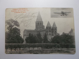 PARAY LE MONIAL La Basilique  (Aviation 26 Et 27 Mai 1912) - Paray Le Monial