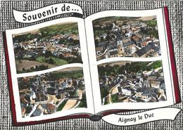 AIGNAY LE DUC SOUVENIR MULTIE VUES 1963 CPSM GM TBE - Aignay Le Duc