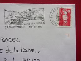 France Flamme Cran-Gevrier Centre Ville Chorus 19 9 1996 74 Haute Savoie  Marianne - Mechanical Postmarks (Advertisement)