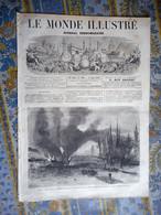 LE MONDE ILLUSTRE 08/08/1868 DUNKERQUE PLOMBIERES SENEGAL LAMPSAR PARIS  ITALIENS ANTIN ARTS BRION MODE CAUCASSE DAKHO - 1850 - 1899