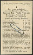 Gregorius Verhaegen :  Herentals 1851 -  Blauberg 1927 :  Pastoor    (see Scans) - Devotion Images
