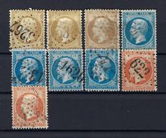 Frankreich Lot Aus Mi.20-22 Gestempelt - 1862 Napoleon III