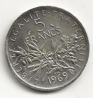 5 Francs - Semeuse - 1969 - TB/TTB - J. 5 Francs