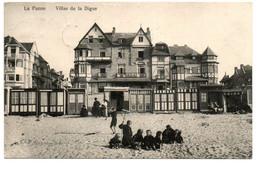 La Panne / De Panne - Villas De La Digue - Circulée - 2 Scans. - De Panne