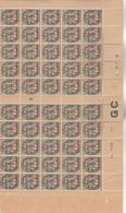Yvert 157 ** 50 Timbres Millésime 9 Manchette GC - 1900-29 Blanc