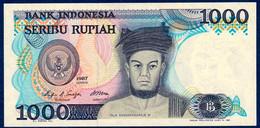 INDONESIA - INDONÉSIE - INDONESIEN 1000 RUPIAH P-124 Raja Sisingamangaraja XII - Yogyakarta Court 1987 UNC - Indonésie