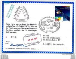 "203 - 30 - Carte Allemande Vol Ballon ""Pestalozzi "" Garching B München 1995 - Airships"