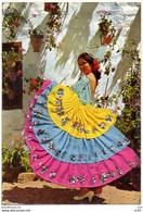 CARTE BRODEE ESPAGNE - Broderie Tissu Et Ajoutis ( Danseuse Flamenco ) - Embroidered