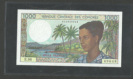 Comoros, Comores  1000 Francs  ND 1984 P-11b Gem UNC - Comoros