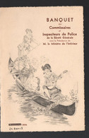 Paris (Mutualité) Banquet Des Commissaires De Police  24 Avril 1934 (PPP29106A) - Menus
