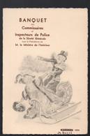 Paris (Mutualité) Banquet Des Commissaires De Police  24 Avril 1934 (PPP29106C) - Menus
