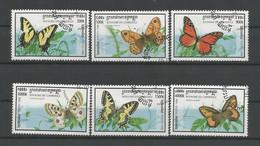 Cambodja 1998 Butterflies   Y.T. 1548/1553 (0) - Cambodia
