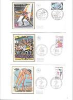 Lot De 10 Enveloppes Premier Jour  Thème Sports, Jeux Olympiques, Championnat Du Monde - 1960-1969