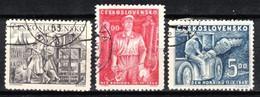 Tchécoslovaquie 1949 Mi 594-6 (Yv 511-3), Obliteré - Used Stamps