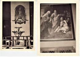 """Ukkel  """"  Zicht Op  Beeld Van  St.Job In De Kerk   2 X """"oude Foto - - Uccle - Ukkel"""