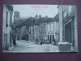 CPA 10 ESSOYES Rue Grande ANIMEE Commerces PHARMACIE BOUCHER 1910 - Essoyes