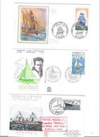 Lot De 9 Enveloppes Premier Jour Thème Bateaux Paquebots, - 1960-1969