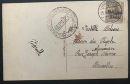 Belgique Occupation Allemande 1ère Guerre Carte De Aarschot Vers Bruxelles Vérifiée Par La Censure - [OC55/105] Eupen/Malmedy