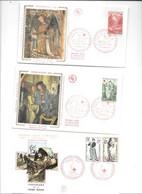 Lot De 9 Enveloppes Premier Jour Thème  CROIX ROUGE - 1960-1969