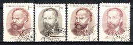 Tchécoslovaquie 1951 Mi 665-8 (Yv 578-81), Obliteré - Used Stamps
