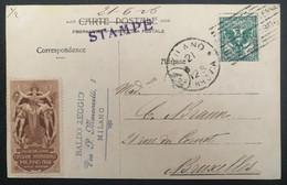 Italia Regno 1906 Cartolina Ufficiale Esposizione Milano1906 Da Milano Per Brussel - Gebraucht