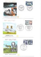 Lot De 12 Enveloppes Premier Jour Thème  AVIATION, - 1960-1969