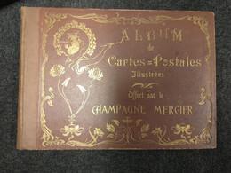 ALBUM CARTES POSTALES CHAMPAGNE MERCIER DECOR ART NOUVEAU DORURE  50 PAGES DE 8 DONC 400 EMPLACEMENTS - Alben, Binder & Blätter