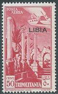1937 LIBIA POSTA AEREA 50 CENT MNH ** - RE22-7 - Libia