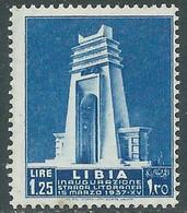 1937 LIBIA STRADA LITORANEA LIBICA 1,25 LIRE MNH ** - RE14-5 - Libia